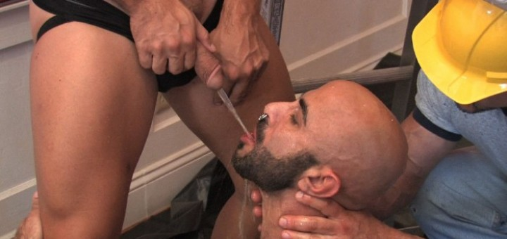 Boyhous Gets Pissed On and Fucked