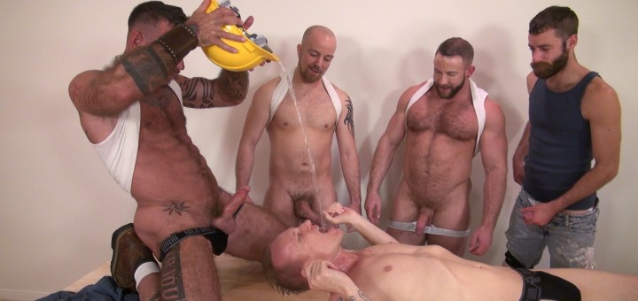 Pissing and fisting orgy 1