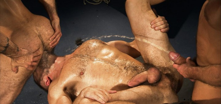 Pissing Pigs: Dirk Caber, Mack Manus and Alessio Romero