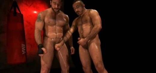 Pissing Pigs: Lance Navarro, Alessio Romero and Spencer Reed