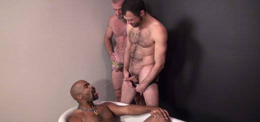 Pissing Guys: Jake Wetmore, Dusty Williams and Kid Satyr