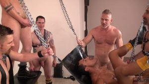 Bareback And Pissing Gay Orgy 2