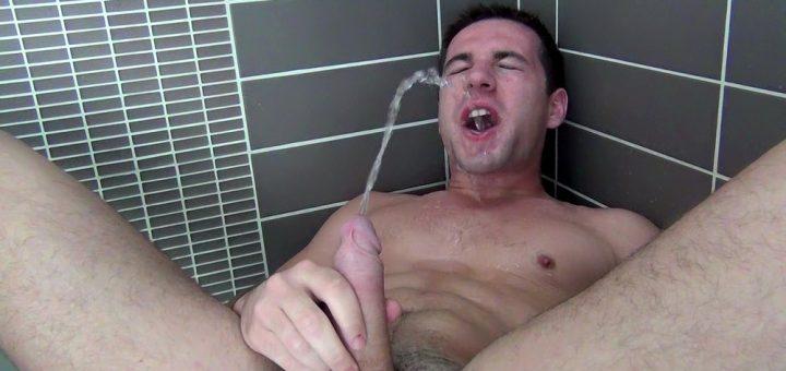 Dylan Knight - Bathroom Gay Pissing Solo