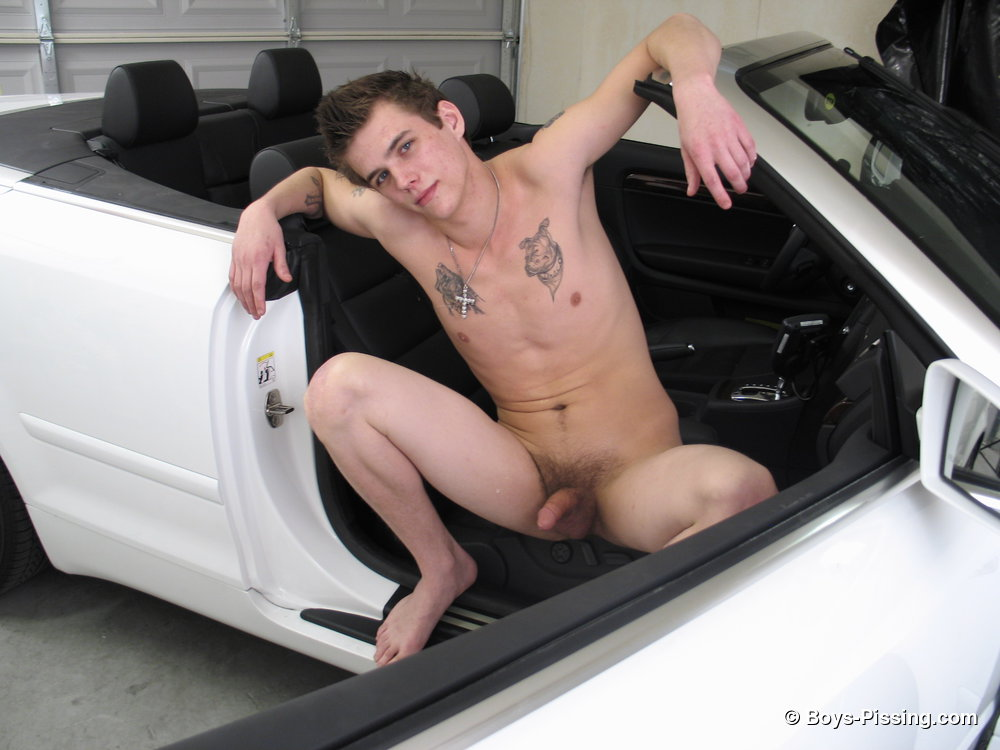 Cain Takes A Piss In His Car 1
