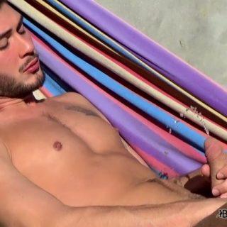 Pissing Jock In The Sun: Justin Dean